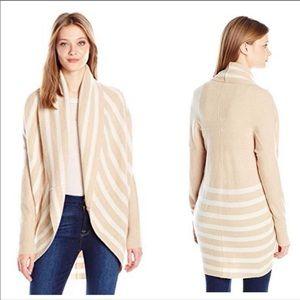 Splendid Cashmere Wool Striped Circle Cardigan